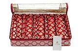 HomeStrap Fabric, Bangle Box, 5 Rod/Large, Red