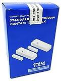 New–frieland Novar (A Honeywell Company) Wireless Alarm Accessory Standard Tür/Fenster Kontakt Twin Pack, das ist Kontakte für ein Standard Wireless Alarm System mit 433MHz Kompatibilität. Weiß Modell DC55mit 1Jahr Garantie
