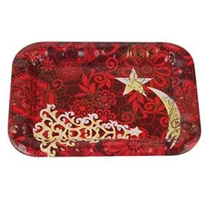 Piatto Rettangolare in plastica 23 * 18 cm - Eventi, Cenone Natale & Capodanno