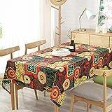 Katoen en linnen tafellaken gedrukt tafelkleed Coffee Table Decoration tuinen tafelkleed Dustproof Kitchen tafelkleed,Linden flower,140 * 220cm