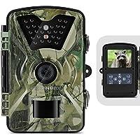 ZANMAX Cámara de Trail 12MP 1080P Cámara de Infrarrojo de Caza con IR LED Visión Nocturna/Diseño Protegido del Agua Pantalla LCD para Seguridad del Hogar Vigilancia Wildlife Scouting