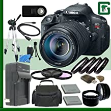 Canon EOS Rebel T5i Digital SLR Camera Kit With 18-55mm STM Lens Green's Camera Package 4