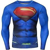 Cody Lundin Serie de superhéroes para Hombres Manga Larga 3D Impreso Supermen Compresión Apretados Sport Fitness Tops