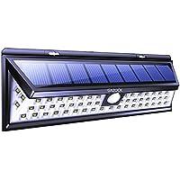 GXZOCK - Luces solares para exterior 54 LED, luz solar de gran angular súper brillante, seguridad inalámbrica, resistente al agua, luces de pared para garaje, patio, jardín, patio, patio RV
