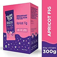 Yogabar Breakfast Protein Apricot and Fig Bars - 300gm, 50 g x 6 Bars