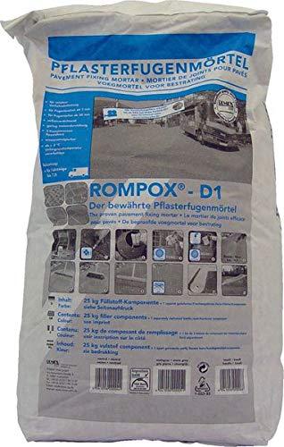ROMPOX® - D1 2K-Epoxidharz Pflasterfugenmörtel 27,5 kg - basalt - der bewährter 2-Komponenten Epoxidharz Pflasterfugenmörtel ROMPOX® - D1 ist ein echter Allrounder