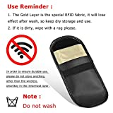 Key Signal Blocker, Vi-GO,Keyless Entry Fob Guard Signal Blocking Bag, Antitheft Lock Devices, Healthy Cell Phone Privacy Protection Security WIFI / GSM / LTE / NFC / RFID Blocker.