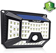 Hardoll Solar Lights for Garden 66 LED Motion Sensor Security Waterproof Lamp for Home,Outdoors Pathways