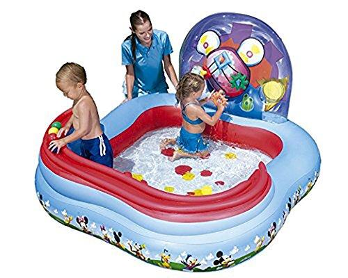 Bestway Planschbecken Mickey Mouse Clubhouse 157x157x91 cm Spielcenter Preisvergleich