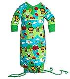 JNY Colourful Kids - Baby Mädchen Jungen Strampelsack Schlafsack LION CIRCUS in Bio-Baumwolle Größe 50/56
