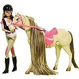 Unbekannt Steffi Love Springreiten, Ankleidepuppe 29 cm mit Pferd und Reitoutfit: Puppe in Barbie Größe Pferd Kinderspielzeug