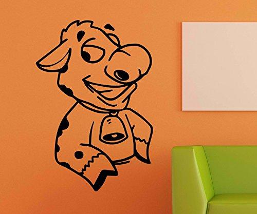 Wandtattoo Kuh lustig Bauernhof sticker Tattoo Tier Tür Glocke Aufkleber Wohnzimmer Schlafzimmer Kinderzimmer 1B229