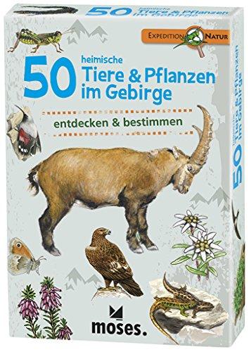 moses-Expedition-Natur-50-heimische-Tiere-und-Pflanzen-im-Gebirge-Bestimmungskarten-im-Set-Mit-spannenden-Quizfragen