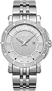 JBW Men's Luxury Vault 24 Diamonds Pave Dial Metal W