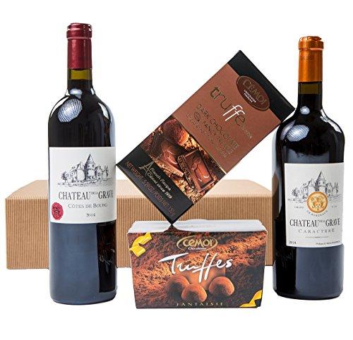 Geschenkset Französische Verführung Schokolade und Rotwein (2 x 0.75 l)
