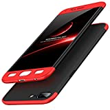 Kapa Double Dip Full Protection Back Cover Case for Oneplus 5 / One Plus 5 - Red / Black