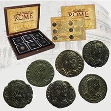 IMPACTO COLECCIONABLES Monedas Antiguas - La Caída del Imperio Romano. 6 Monedas de Bronce