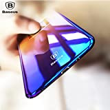 Gozmos For Samsung Galaxy Note8 Case, Baseus Colorful Gradual Protective Skin PC Hard Back Cover Light Slim Glaze Case For Samsung Galaxy Note 8 - Black Dual Tone