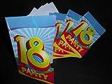 18 PARTY EINLADUNGS KARTEN 18.Geburtstag 16 tlg. Party