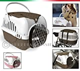 Car Bike Carrier for Dogs Cats Rabbits Bowl with Free 100% MADE IN ITALY pink Size:53x33x34h