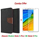 #10: Goelectro Xiaomi Redmi Note 5 Pro / mi redmi note 5 Pro / Redmi Note 5 Pro (COMBO OFFER) Wallet Style Flip Cover Case for Xiaomi Redmi Note 5 Pro (Brown) + Premium Hardness Tempered Glass screen protector (Transparent Glass)