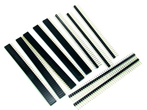Pezzi 5 x CONNETTORE STRIP FEMMINA 40 poli + pezzi 5 x CONNETTORE STRIP LINE MASCHIO 40 poli KIT HEADER /Pin Strip #A321