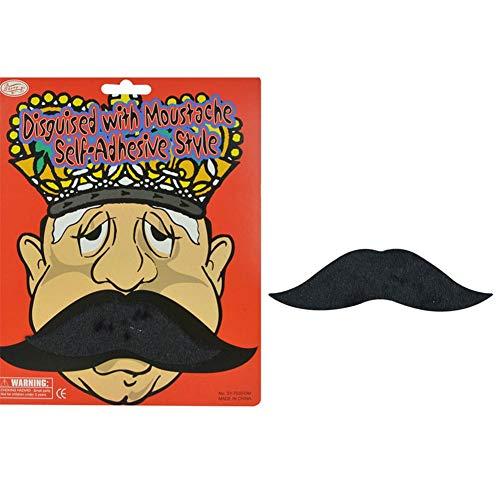 Dedeka Selbstklebende Schnurrbart Klebebärte, auf gefälschtem Schnurrbart-Augenbrauen-Bart-Selbstklebendem Abendkleid-Kostüm für Kinder und Erwachsene, Halloween-Ballshow-Stützensimulation ()