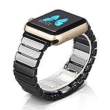 NotoCity Apple Watch Armband 42mm/44mm Keramik Uhrenarmband mit Butterfly Metallschließe für Apple Watch Series 4 3 2 1