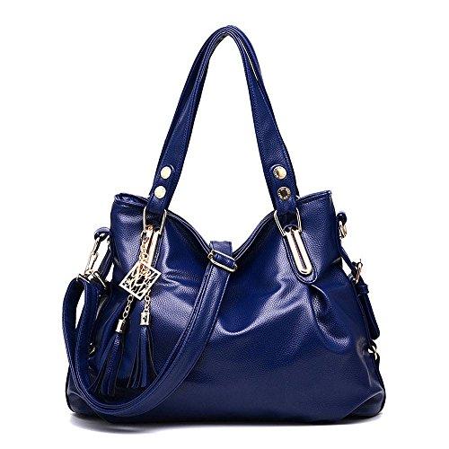 koson-man-tracolla-a-spalla-da-donna-con-nappe-2-pezzi-con-borsa-tote-bags-blu-blu-kmukhb218