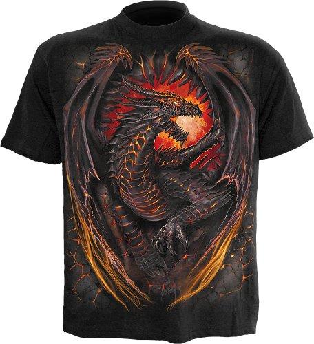 Spiral Dragon Furnace T-Shirt schwarz Schwarz