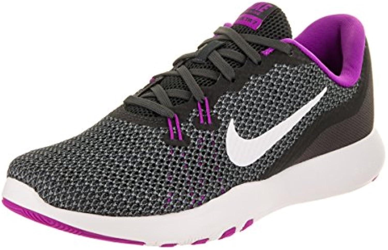 Nike Wflex Trainer 7, Zapatillas para Mujer, Multicolor (Anthracite/White/Dark Grey/Hyper Violet 001), 39 EU
