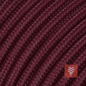 Textilkabel f/ür Lampe 3x0,75mm/² * Made in Europe * Rot 3 Meter Stoffkabel 3-adrig