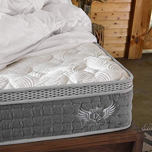 ANGEL QUEEN 4FT6 Double 4D Breathable Fabric Mattress With Pocket Springs and Memory Foam - 9-Zone Orthopaedic Mattress