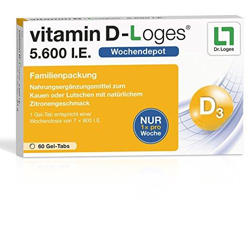 vitamin D-Loges 5.600 I.E, 60 St. Kautabletten -