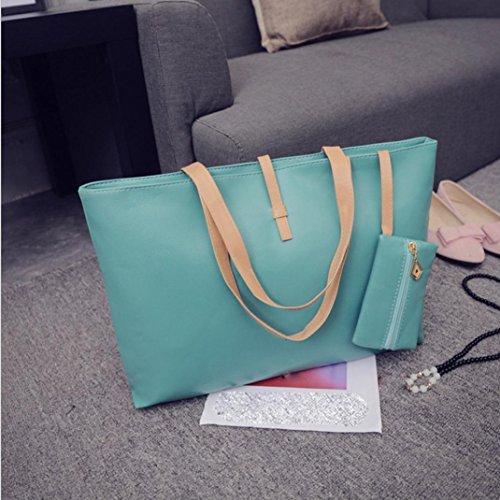 Imagen de bolso de mano de piel grande bolsos de bandolera baratos para mujer compras por esailq verde  alternativa