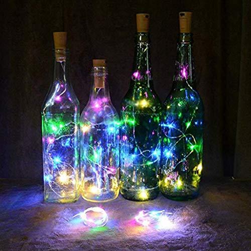 Prevently Lichterkette Batterie, 14 Stücke Cork Shaped LED Nachtlicht Sternenlicht Weinflasche Lampe Für Party Decor Valentinstag Dekoration  (Multicolor) -