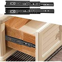 TGBN Mini cajón deslizaderas guía de extensión riel cajón Armario Muebles Hardware hogar Cocina Accesorios de Acero, Blanco, 20 cm