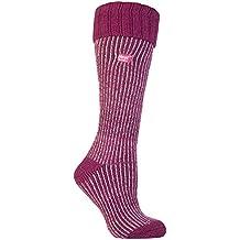 Heat Holders - Las mujeres termo calcetines Botas de agua Tamaño 4-8 púrpura (Wellington calcetín)