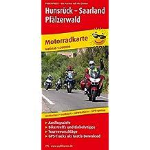 Hunsrück - Saarland - Pfälzerwald: Motorradkarte mit GPS-Tracks zum Gratisdownload, Ausflugszielen, Einkehr- & Freizeittipps und Tourenvorschlägen, ... GPS-genau. 1:200000 (Motorradkarte / MK)