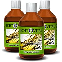 Preisvergleich für Echt Vital Kolloidales Gold 8 ppm - 3 Flaschen mit je 250 ml - Reinst-Gold (Reinheitsstufe 99,99%)