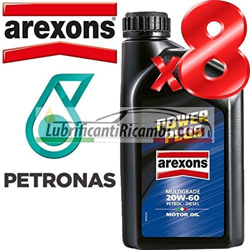 Offerta - Olio Motore 20w60 Petronas/AREXONS Power Plus 8 Litri in lattine da Singolo litro per Motori Benzina e Dies