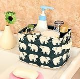 Leisial Aufbewahrungsbox für Baumwolle und Wäsche, Aufbewahrungstasche aus wasserdichtem Material, Griffe beidseitig für Kleidung von Kindern mit niedrigem Alter oder Haustier-Zubehör, style D, 20.5x16.5x13.5cm - 5