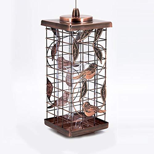KTYXDE utdoor Feeder/Quadratischer Metallgitter Bird Feeder/Auslaufsicherer Bird Feeding Station Braun/Grün Vogelfütterer (Color : Green) - Wild Bird Feeding Station