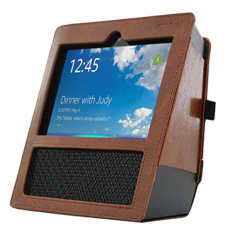 MOSISO-Amazon-Echo-Show-Case-Tragetasche-Premium-PU-Leder-Hlle-Schutzbox-Schutzhlle-Reisetasche-fr-Amazon-Echo-Show-Bluetooth-Wireless-mit-Handschlaufe