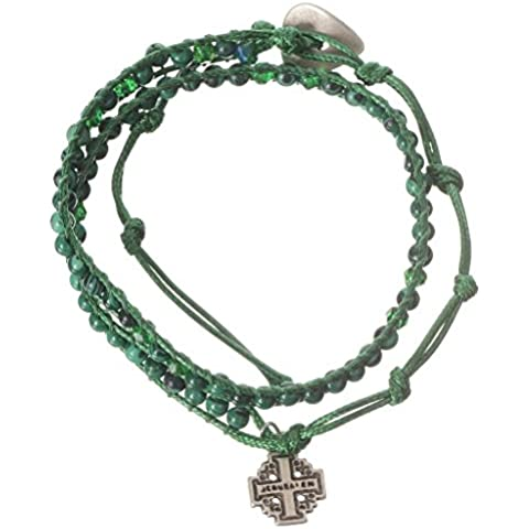 Bracciale Rosario Malachite 4 mm