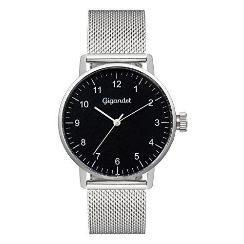 Gigandet Minimalism Women's Analogue Wrist Watch Quartz Silver Black G27-006