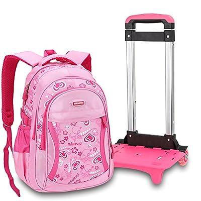 Nouveau modèle Sac à dos avec roulettes sac d`école à roulettes sac de voyage à roulettes sac de bar étudiant pour garcons filles en nylon multicolore