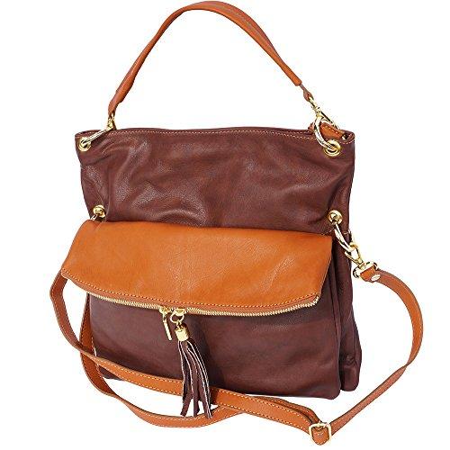 Hobo-Tasche mit langen Riemen 3117 Braun-bräune