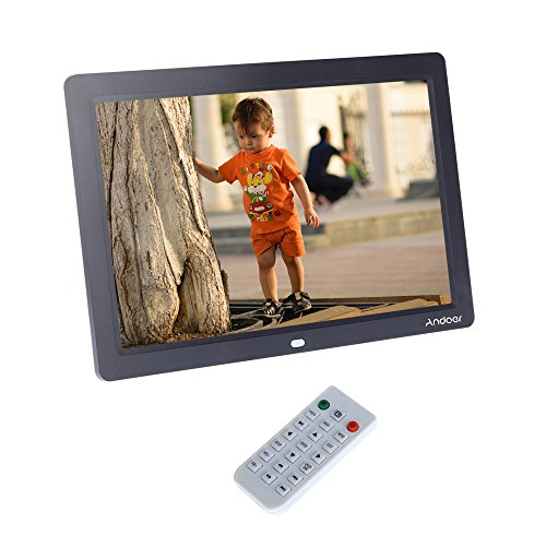 Andoer® 12 Zoll HD TFT-LCD 1280 * 800 Vollansicht Digitaler Bilderrahmen Wecker MP3 MP4 Video-Player mit Remote Desktop Camera Mp3 Mp4 Video