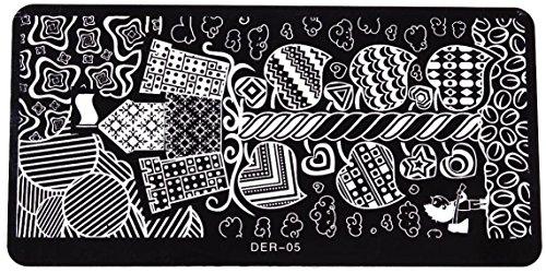NEW Nail Art Pochoir Stamping XL Le de 05 manucure Kit ongles extra large accessoires pour ongles Design d'entretien